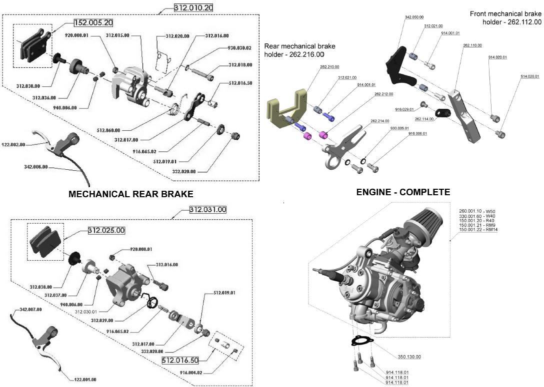 Blata Ultima Mechanical Brakes Brake Holder Complete