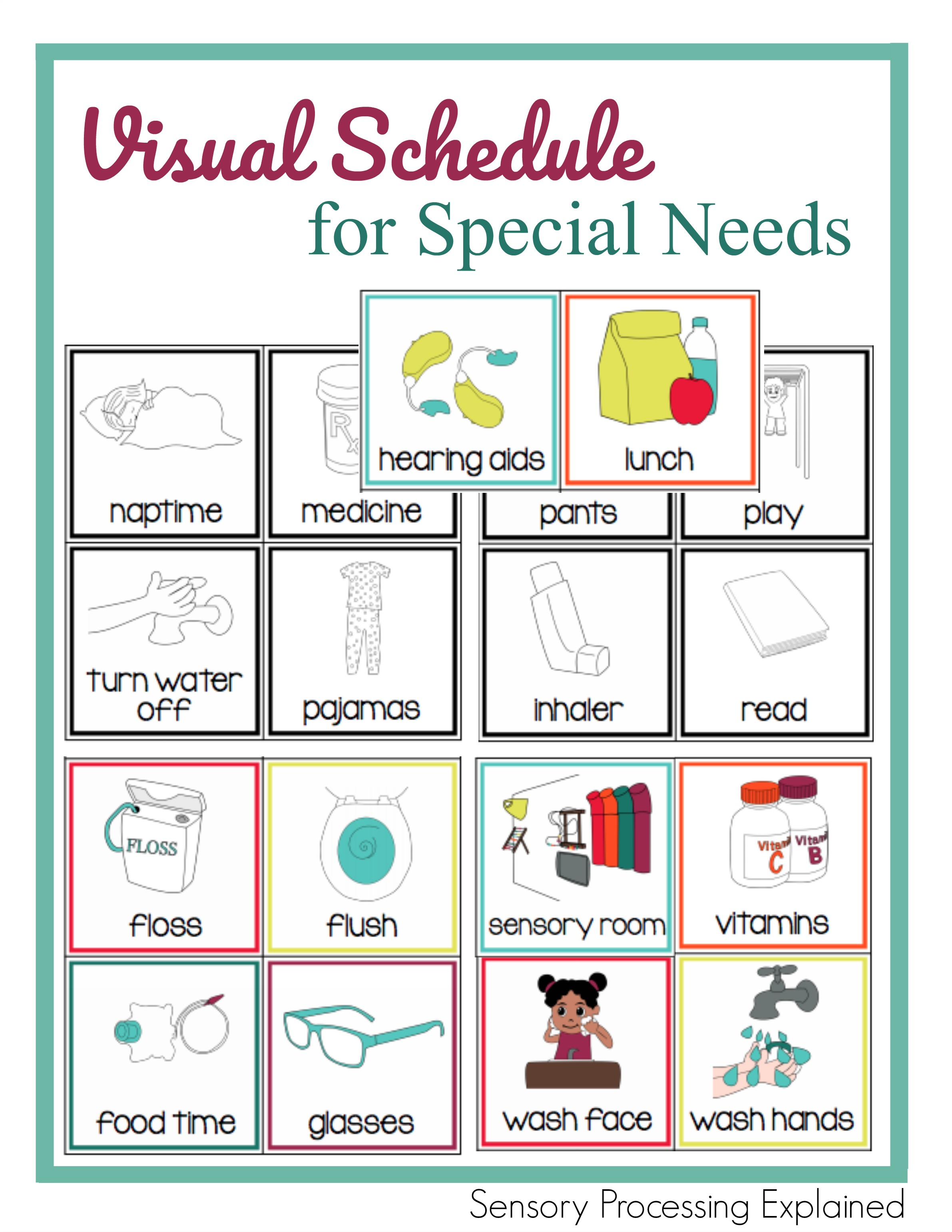 Visual Schedule For Special Needs