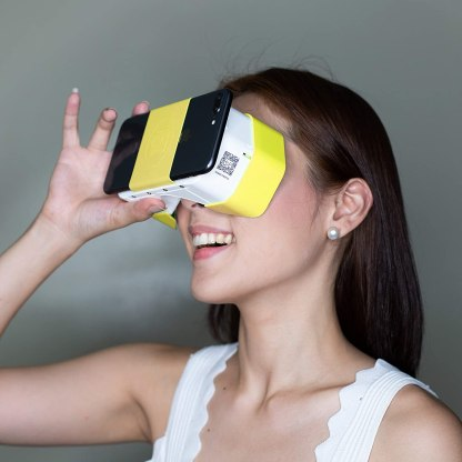 DSCVR VR Headset | The Best Virtual Reality Glasses for iPhone and Android | Google Cardboard v2 Inspired