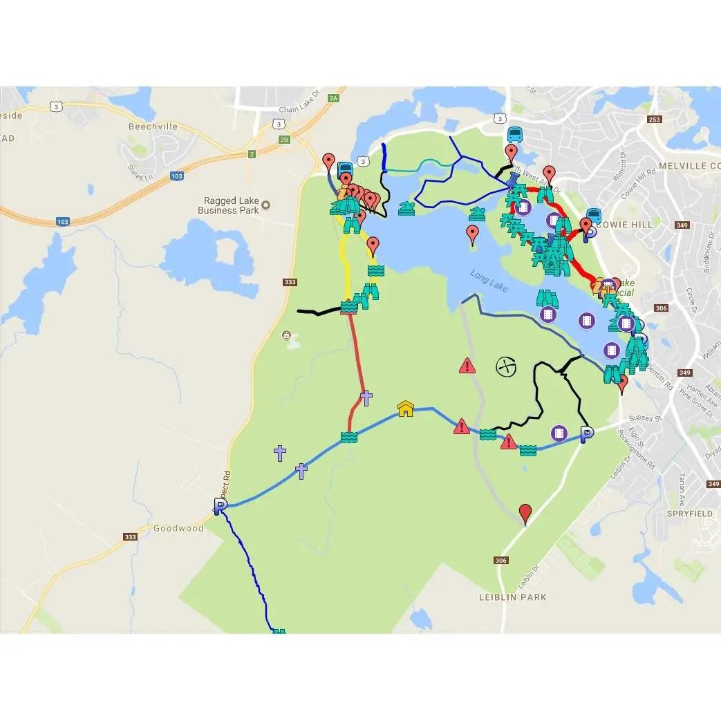 Long Lake Provincial Park GPS Map Files