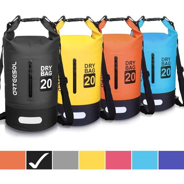 Dry Bag, 5L 10L 20L 30L Waterproof Dry Bag/Sack Waterproof Bag with Long Adjustable Strap for Kayaking