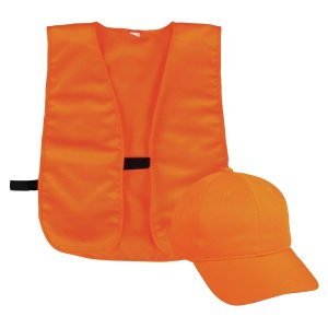 Orange Safety Vest and Hat