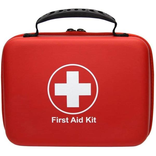 Compact First Aid Kit (228pcs) Designed for Family Emergency Care. Waterproof EVA Case and Bag is Ideal for The Car, Home, School, Camping, Hiking, Office, Sports. Protect Your Loved Ones.ETC