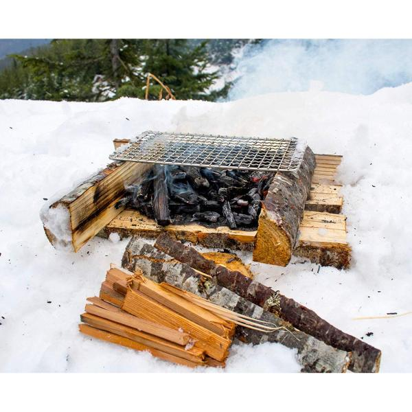Blaze Bushcraft Grill - Welded Stainless Steel High Strength Mesh (Campfire Rated) - Expedition Research LLC, USA