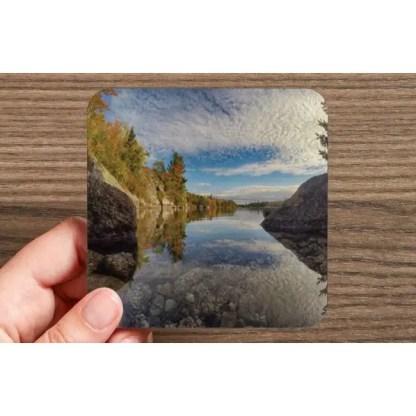Fox Lake Blue Mountain Birch Cove Halifax Nova Scotia Photo Drink Coasters