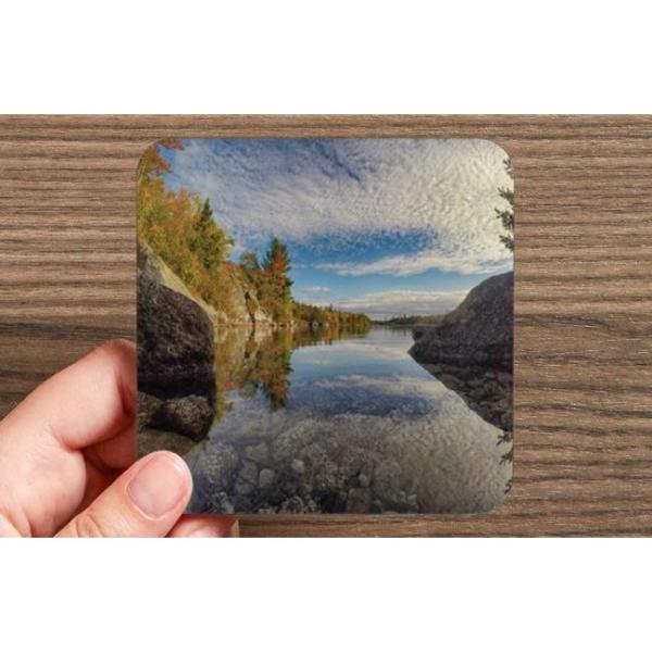 Fox Lake Blue Mountain Birch Cove Halifax Nova Scotia Photo Drink Coasters