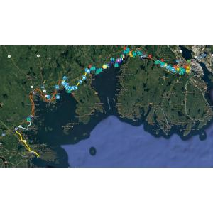 Rum Runners Trail Nova Scotia GPS map