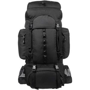 AmazonBasics Internal Frame Hiking Backpack with Rainfly, 55 L