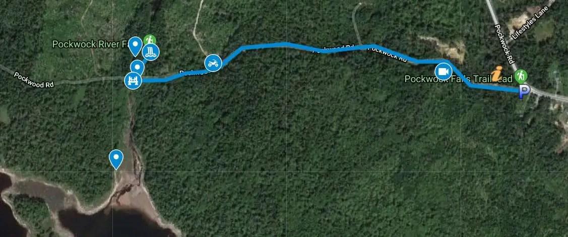 Pockwock Falls GPS Files (gpx & kml)