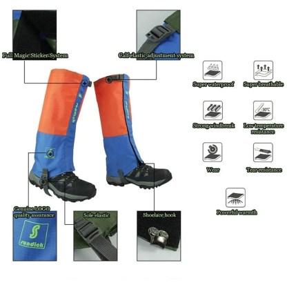 waterproof breathable leg hiking gaiters