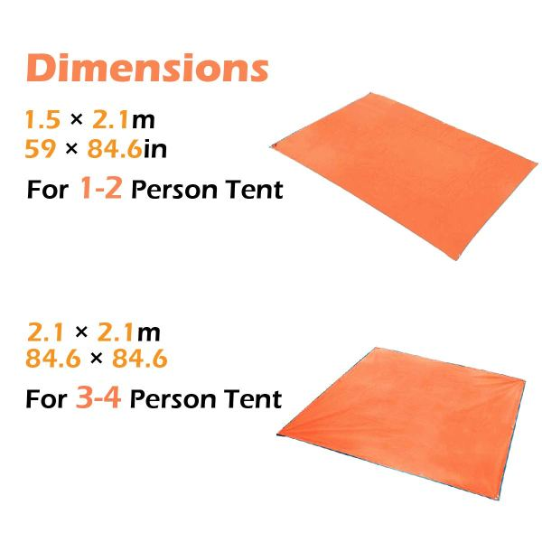 TRIWONDER Camping Tent Tarp Footprint Outdoor Waterproof Hammock Rain Fly Rainfly Cover Shelter Groundsheet
