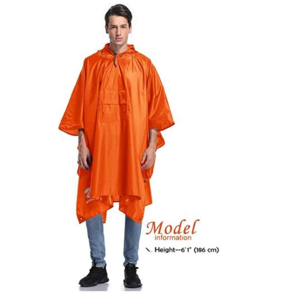 waterproof lightweight packable rain poncho