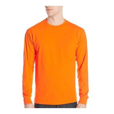 Men's long sleeve t shirt hunter's orange blaze safety hunting