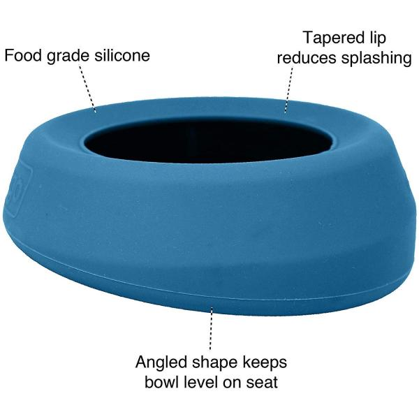 Kurgo Splash-Free Wander(TM) No-Spill Portable Water Dog Bowl and Food Pet Bowl