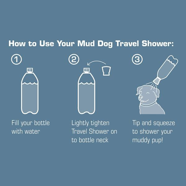 Portable Dog Mud Rinser