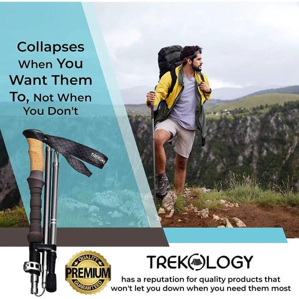 Aluminum Trekking Poles - Trekology Trek-Z