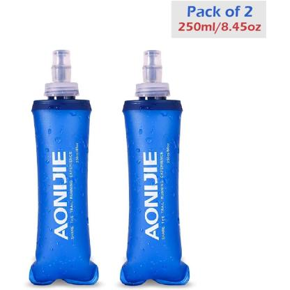 Soft Flask Collapsible Water Bottle (250ml/8.45oz - 2 Pack)