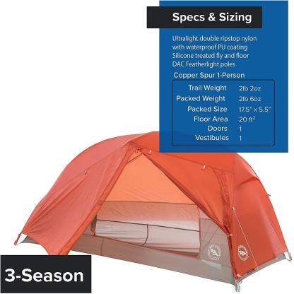 One of our best-selling, full-featured, ultralight backpacking tents, the Copper Spur HV UL series just got better with new features inside and out, proprietary materials that are stronger and lighter, and hardware that makes setting up even easier. High volume, freestanding structure provides great living space. Traditional, media, and 3D bin pockets help you to effectively organize your gear without cramping sleeping space or sit up volume. Customizable vestibules expand living space when weather is great or foul. Truly your ultimate UL home away from home.