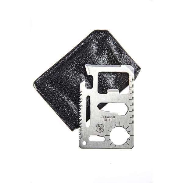 11-in-1 Multi-Function Survival Tool Credit Card Size