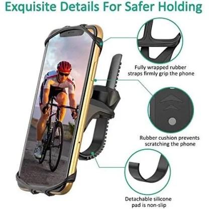 TEUMI Bike Phone Mount, 360° Rotatable