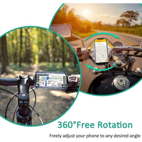 TEUMI Bike Phone Mount, 360° Rotatable