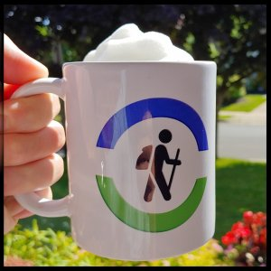 hiking graphic coffee mug