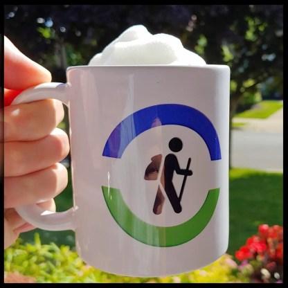 hiking graphic coffee mug
