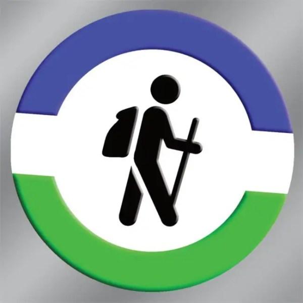 hiking bumper sticker