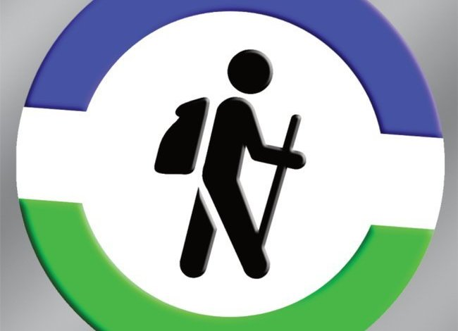 Hiker Graphic Bumper Sticker
