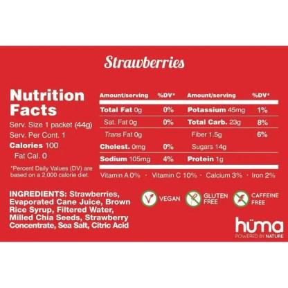 Huma Chia Energy Gel, Variety Pack