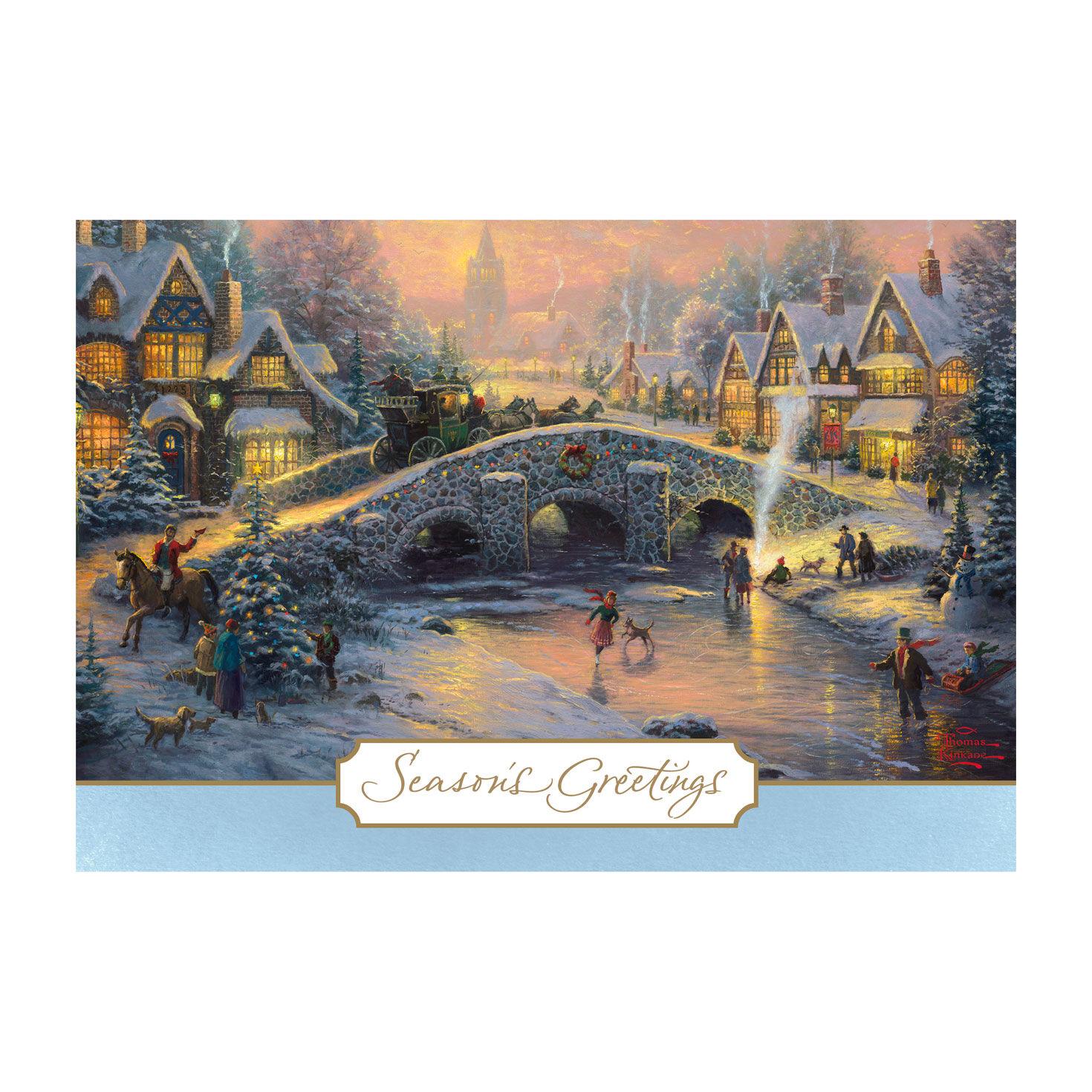 Thomas Kinkade Spirit Of Christmas Holiday Cards