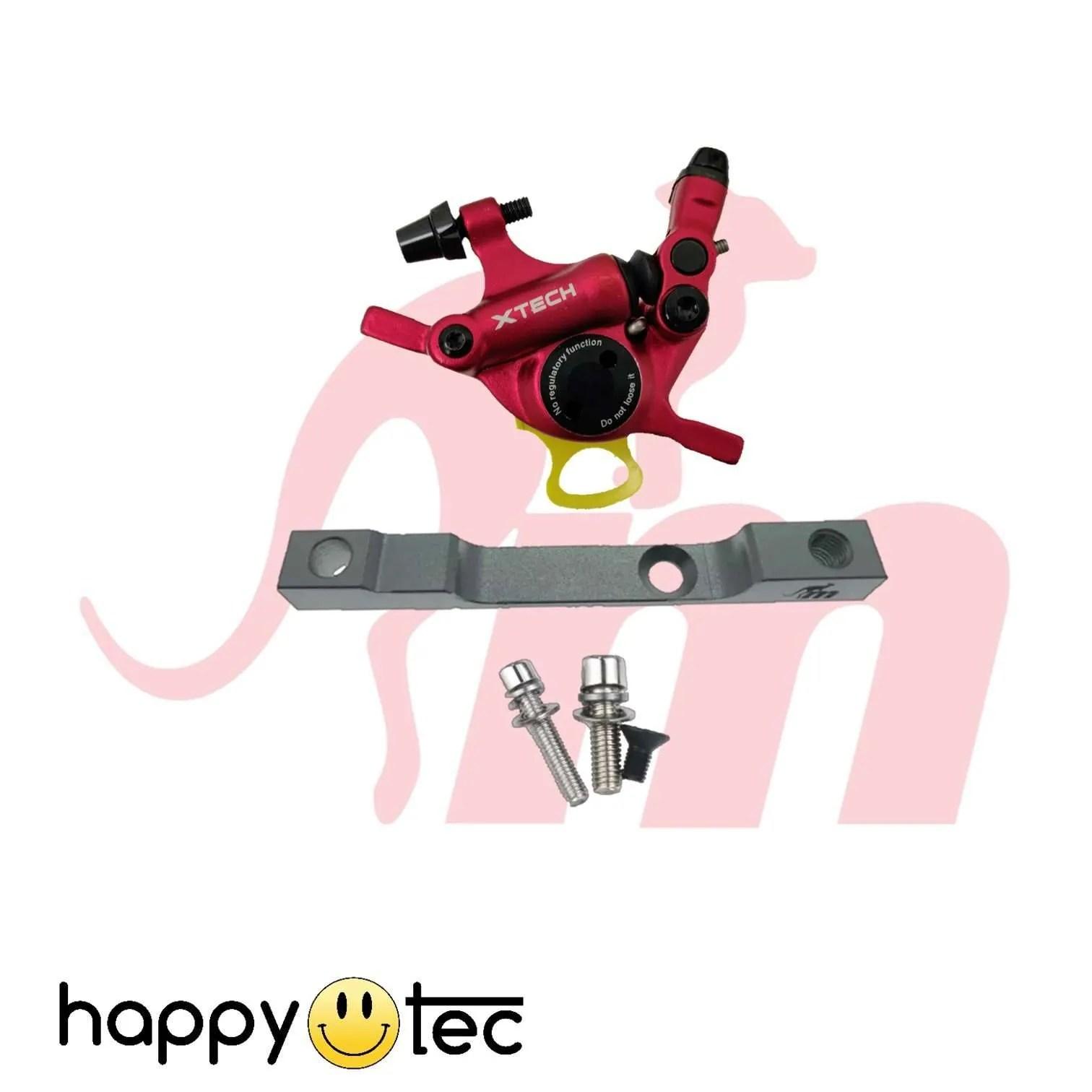 Monorim Kit pinza freno X-Tech con frame di supporto Rosso