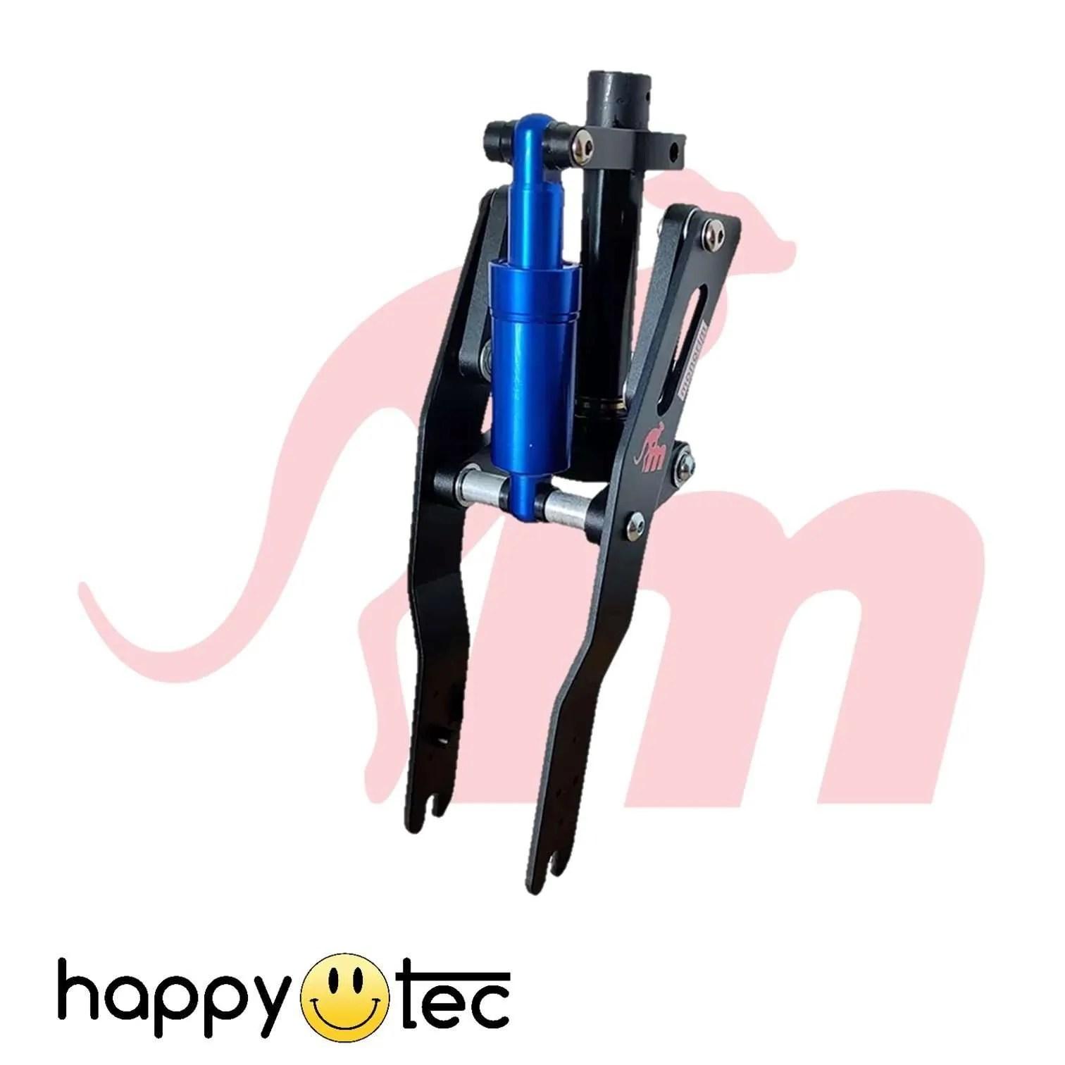 Ninebot-G30-Max-Ammortizzatore-anteriore-V2-by-Monorim-Nero-e-blu ricambi accessori riparazione assistenza tecnica monopattini elettrici monorim