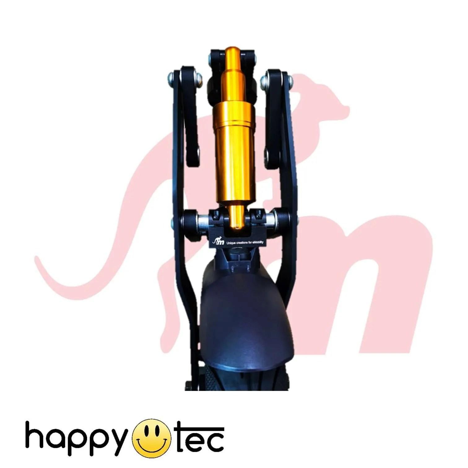 Ninebot-G30-Max-Ammortizzatore-anteriore-V3-by-Monorim-Nero-e-oro ricambi accessori riparazione assistenza tecnica monopattini elettrici monorim