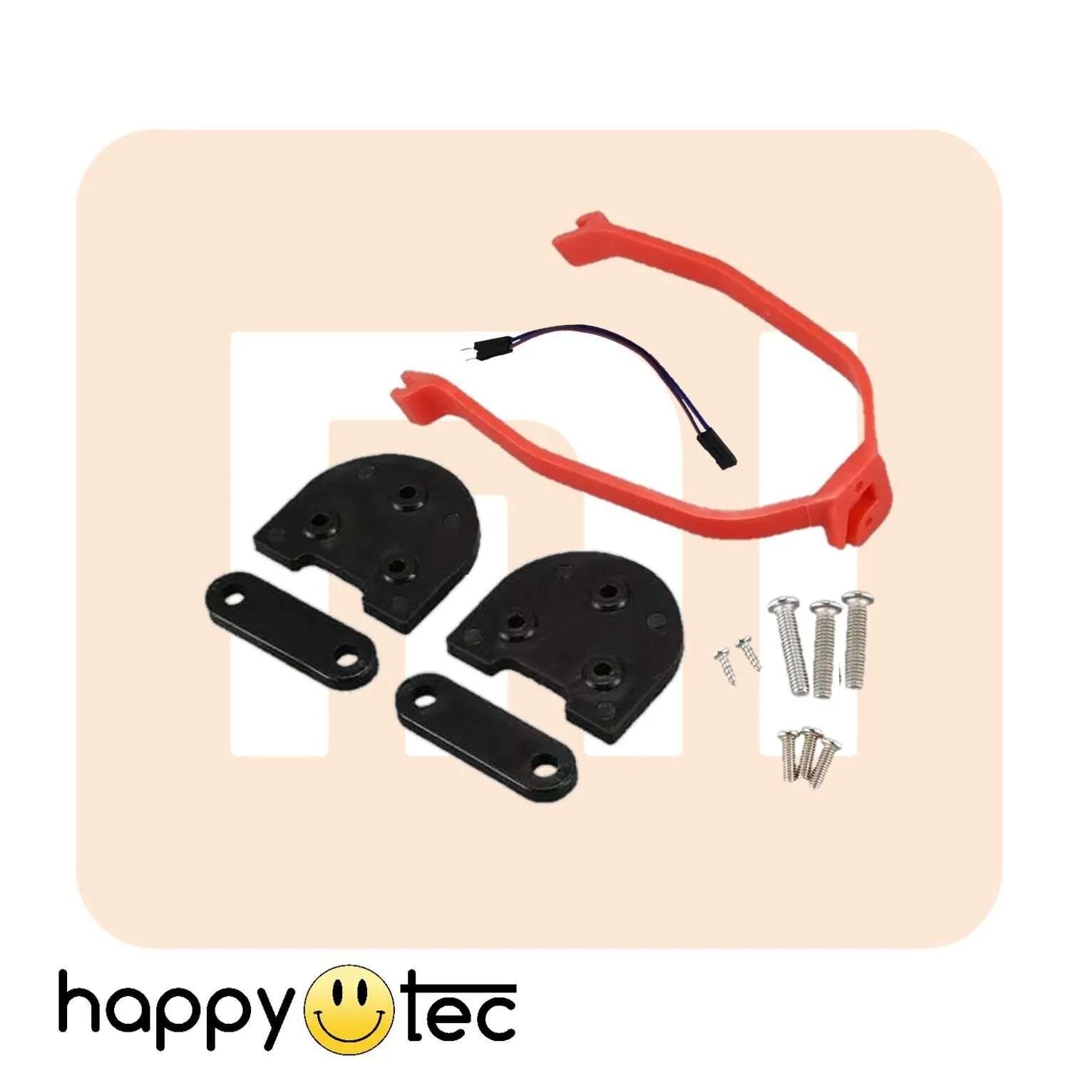 Accessori per Xiaomi Kit spessori + staffa parafango ruote 10 Nero-Rosso