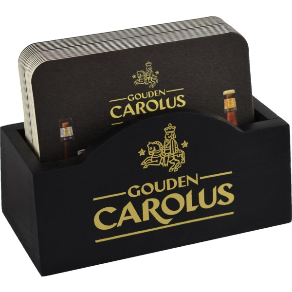 Biervilthouder Gouden Carolus met bierviltjes