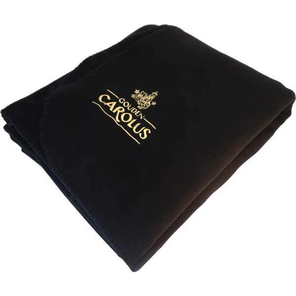 XL Blanket in black with Gouden Carolus logo