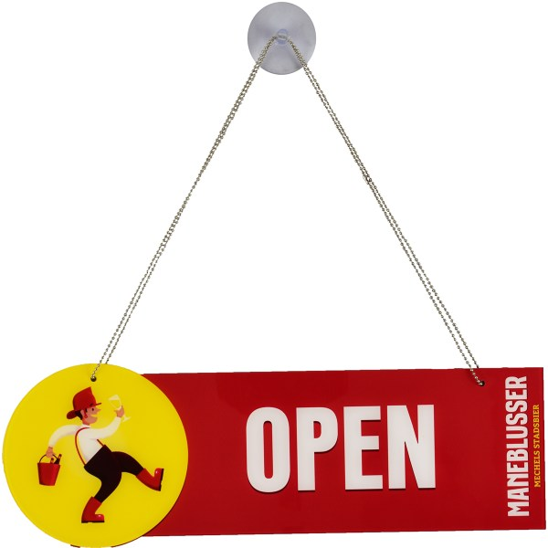 Open Closed sign Maneblusser met zuignap