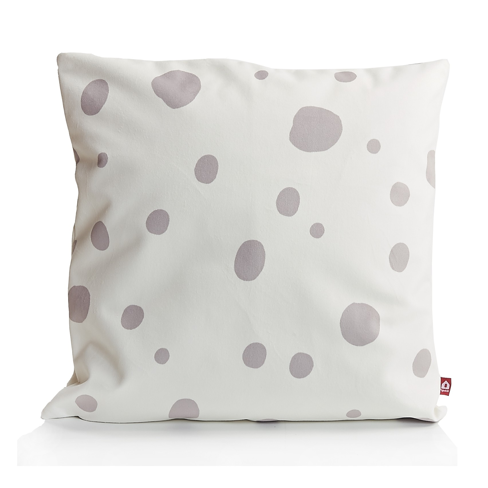 make my day pillow white with lightgrey messy dots