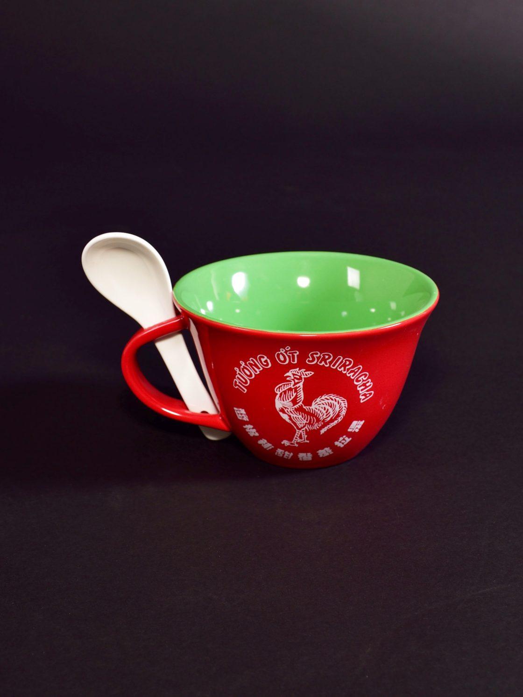 Sri. Soup Mug w Spoon Above 13383511