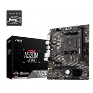 MSI A520M-A PRO AMD Socket AM4 Micro ATX HDMI/DVI USB 3.2 Gen1 M.2 Motherboard