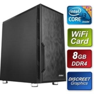 Antec Intel i3 9100F 3.60GHz Quad Core 8GB DDR4 RAM 512GB M.2 w GT730 Graphics & Wireless Card Prebuilt System