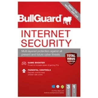 Bullguard Internet Security 2021 1Year/3 Device Multi Device Single Retail Licence English