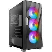 Antec DF700 FLUX Mid Tower 2 x USB 3.0 Tempered Glass Side Window Panel Black Case with Addressable RGB LED Fans