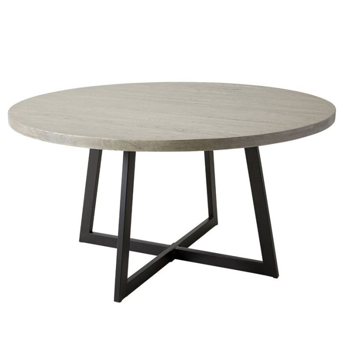ESTER GREY WASH/BLACK LEGS ASH TABLE