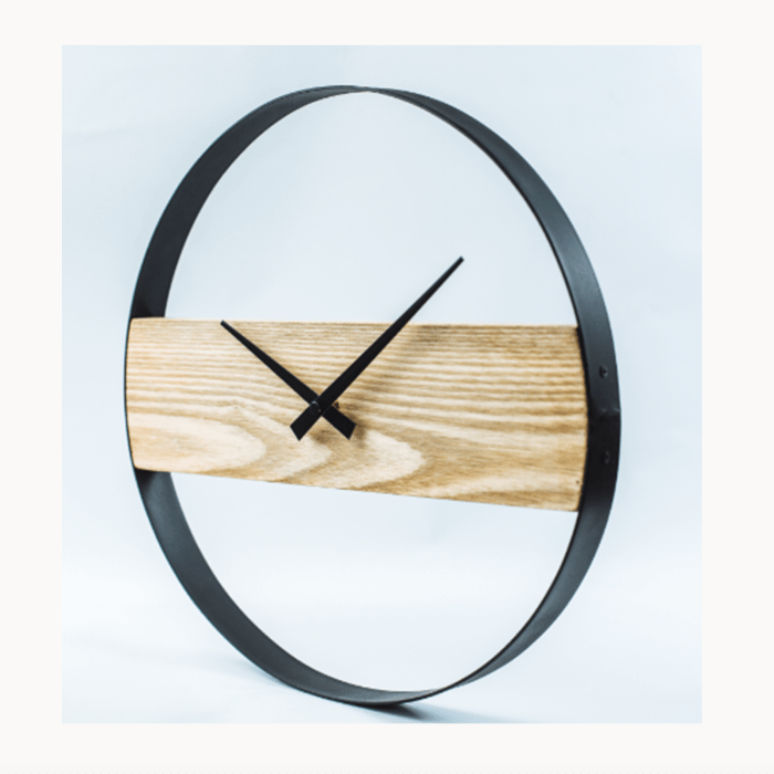 UNIQUE CLOCK WITH WOODEN BOARD