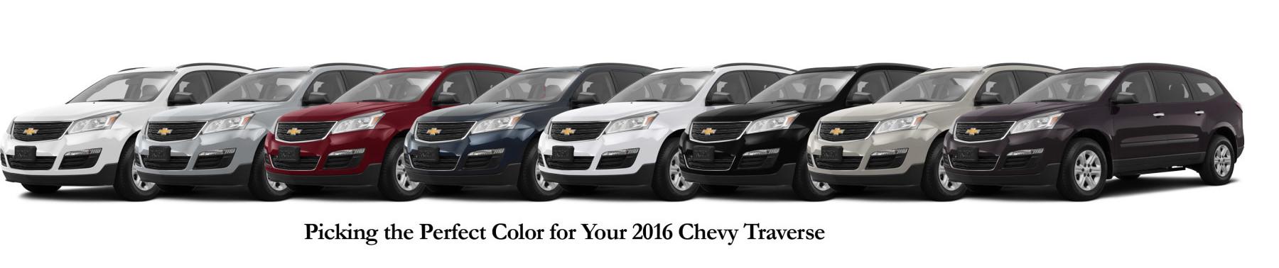 Colors Traverse Paint 2016 Chevy