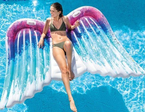 現貨 Intex Angel Wings 網紅 道具 天使之翼 雙人戲水充氣浮排 58786eu