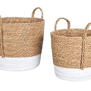 Jute Basket with braided handle