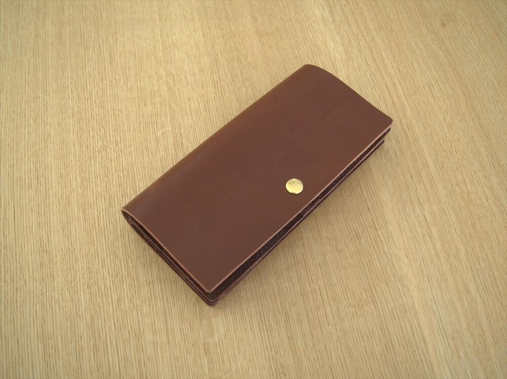 型紙005_革のフラップ長財布
